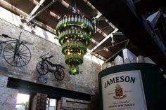 Jameson Distillery (cool chandelier) in Dublin, Ireland. Summer 2013