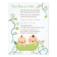 296 Best Twins Baby Shower Invitations Images In 2019 Baby Shower