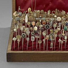 Antique Stick Pins. Ok, so not buttons, but sometimes used to hold fabrics together!