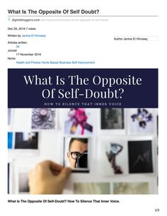 What Is The Opposite Of Self Doubt?
