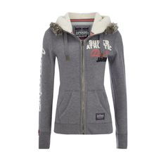 die 94 besten bilder von love superdry sweatshirts, jackets und  superdry sweatjacke mit webpelzbesatz in grau schwarz online kaufen (9065204)