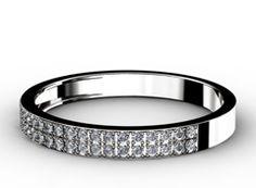 Diamant Ehering History, 750er Weißgold 18 Karat