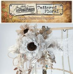 Have you seen the BIG news? Tim Holtz has pre-leased three new dies ahead of CHA: Jumbo Tattered Florals, Garden Greens, and Spring Greenery! Learn more at #Sizzix: http://www.sizzix.com/shop/th-tattered-floral-2013. #TatteredFloral #TimHoltz