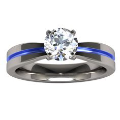 What a gorgeous engagement ring! For the bride who wants something different.  It's titanium with a white sapphire!  Only $560