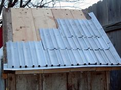 Make Shingles And Siding Out Of Aluminum Cans (beer Can Roof)
