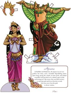 Apsara* Free paper dolls at Arielle Gabriel's The International Papef Doll Society and The China Adventures of Arielle Gabriel the huge China travel site by Arielle Gabriel *