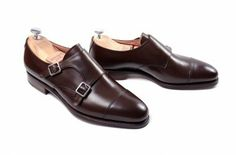 MEERMIN - Classic Collection > BUCKLES > 101341 - DARK BROWN CALF Double Monk Strap Shoes, Classic Collection, Wedding Suits, Dark Brown, Calves, Oxford Shoes, Dress Shoes, Walking, Mens Fashion