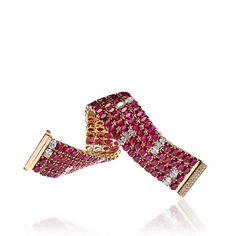 Lugano Diamonds Ruby Bracelet, featuring 84.96ct of heated ruby, oval and round brilliant | An experience as remarkable as our collection