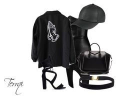 """All Black"" by terrqi on Polyvore featuring moda, Posh Girl i Givenchy"