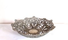 Vintage silver plated bowlSilver Plated Grapevine by NGvintagelove
