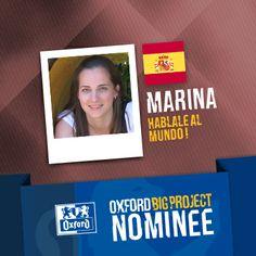 Vote for her project: http://www.oxfordbigproject.com/en/project-nominee/hablale-al-mundo