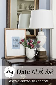 Make your own DIY Date Wall Art to reflect special family dates. A budget-friendly way to personalize your space!