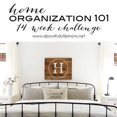 2015 Home Organization 101 ~ 14 Week Challenge begins on January 4th via A Bowl Full of Lemons