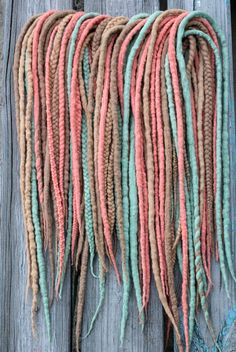 Hey, I found this really awesome Etsy listing at https://www.etsy.com/listing/251681416/wool-dreads-and-braids-woolen-dreadlocks