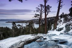 """""""Winter Sunset at Emerald Bay 1"""" - by @Tony Spiker #LakeTahoe #photography @Tahoe South"""