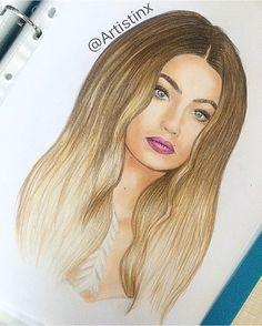 Gigi Hadid drawing by @Artistinx