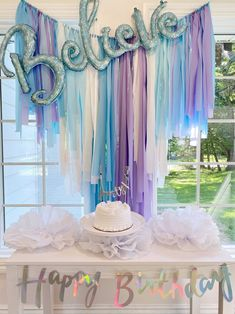Fringe Backdrop, Birthday, Frozen Party Decorations, Frozen Backdrop, Winter Wonderland Party, Winter Baby Shower, Onederland, Frozen Party