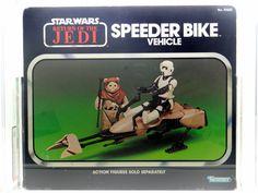 Star Wars - 1983 Kenner ROTJ SPEEDER BIKE - MISB - AFA 80 NM (Near Mint)