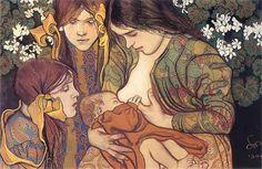 arsauroprior: Stanislaw Wyspianski, Motherhood | 1905, pastel - #Art #LoveArt http://wp.me/p6qjkV-ctu