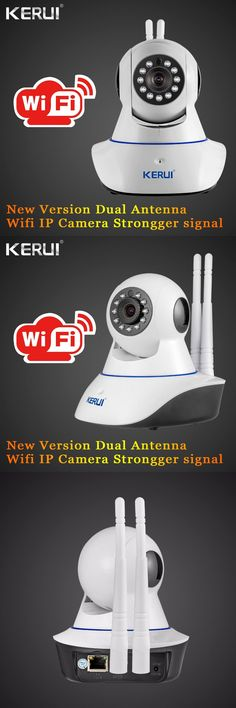 [Visit to Buy] KERUI IWifi ISO Android APP Remote Control Burglar HD IP Camera WiFi Vandal-proof Dual antenna For Home Security Alarm System #Advertisement