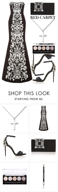 """Anastazio-red carpet"" by anastazio-kotsopoulos ❤ liked on Polyvore featuring Anastazio, Oscar de la Renta, Dolce&Gabbana, Manolo Blahnik, L.A. Colors and The Body Shop"