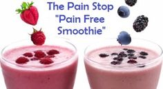 Pain Stop recipe for a natural and great-tasting way to alleviate pain and promote overall health! The Pain-Free Smoothie is a simple recipe that will help reduce inflammation in the body as well as build up immune function. Healthy Recipes For Diabetics, Diabetic Recipes, Healthy Drinks, Arizona, Dr Mike, Milk Shakes, Ber, Diabetic Friendly, Reduce Inflammation