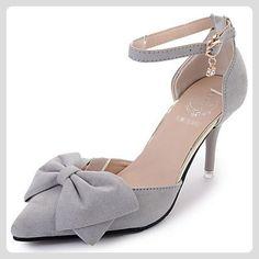 LvYuan-ggx Damen High Heels Komfort PU Frühling Sommer Normal Komfort Schwarz Grau Rosa 5 - 7 cm , gray , us6 / eu36 / uk4 / cn36