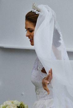 Swedish Princess Madeleine in Stockholm, Sweden, after her wedding 08 June 2013