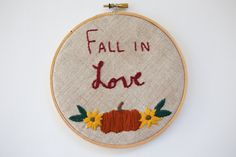 fall in love. fall decor. thanksgiving decoration. by AMEhandmade
