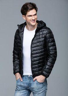 83b0fe1ecae 2017 Man Winter Autumn Jacket 90% White Duck Down Jackets Men Hooded Ultra  Light Down Jackets Warm Outwear Coat Parkas Outdoors