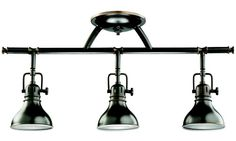 Kichler Arts and Crafts Rail Light Bar - 3 Heads - Track Lighting at Hayneedle