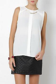 Blusa de gasa con collar-elarmariodelatele