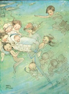 "Mabel Lucie Attwell illustration for ""The Water Babies""."