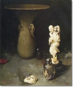 Emil Carlsen - Still Life With Oriental Art 1901 - Approximate ...