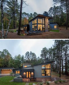 "1,123 Likes, 5 Comments - Book of Homes (@bookofhomes) on Instagram: ""Northern Minnesota Lake House by Strand Design 