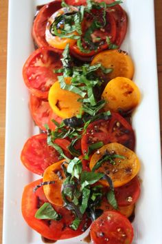 Tomato Salad with Balsamic Vinaigrette