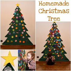Homemade kid friendly felt Christmas Tree. So easy to do!