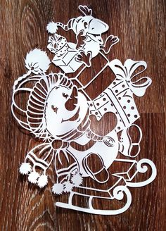 Diy And Crafts, Arts And Crafts, Paper Crafts, Victor Design, Wood Carving Patterns, Christmas Villages, Christmas Paintings, Kirigami, Paper Cutting