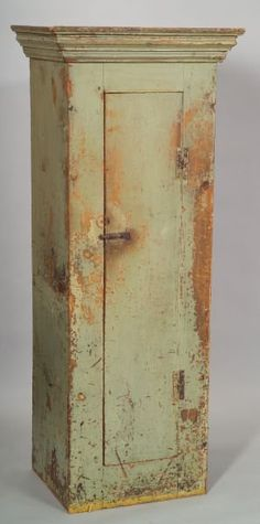 Painted Chimney Cupboard, Possibly New England, Ea Primitive Furniture,  Primitive Antiques, Country