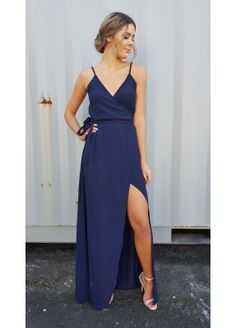Beautiful Bridesmaid dresses, unique, classic and fashion forward selection of beautiful bridesmaid dresses that are made to order for the Brides special day. Evolution offers a wide range of sizes, styles and colours with a custom colour option. Beautiful Bridesmaid Dresses, Online Shopping Clothes, Fashion Forward, Evolution, Wrap Dress, Navy, Clothes For Women, Formal, Skirts