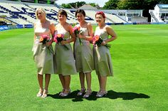 Beautiful bridesmaids and a stunning backdrop, all at the home of the oldest sports club in the world.
