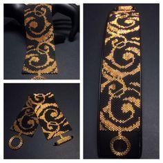 PATTERN Single Peyote Elegance Bracelet | Etsy Peyote Patterns, Bracelet Patterns, Beading Patterns, Beaded Jewelry Designs, Bead Loom Bracelets, Peyote Beading, Bracelet Tutorial, Bead Art, Loom Bracelets