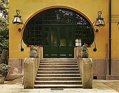 Entryway  to private home in Hinterbruehl near Vienna, Austria by Joseph Maria Olbrich