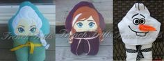Snowman, Ice Queen, Ice Princess 3d hooded towel applique embroidery design SET