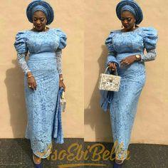 @bimmar_couture  AsoEbiBella.com presents – The Latest Aso Ebi Styles -Vol. 244 - BellaNaija African Wear Dresses, African Fashion Ankara, Latest African Fashion Dresses, African Print Fashion, Africa Fashion, African Attire, African Clothes, Nigerian Lace Styles, African Lace Styles