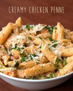 Creamy Chicken Penne - Pretty good. We used extra bacon (of course). I might add some red pepper or something next time. It's a little bland for my taste.