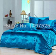 Cheap textile display, Buy Quality sheet kids directly from China sheet Suppliers: Custom Size Solid Color Bedding Sets Silk 17 Colors Twin Full Queen King Size of Mattress Cover Duvet Cover Bed Sheet Mattress Covers, Duvet Covers, Home Textile, King Size, Bed Sheets, Interior Inspiration, Bedding Sets, Bean Bag Chair, Comforters