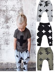 Toddler Boys Girls Cozy PP Pants Kids Plaid Cotton Harem Pants Trousers Outfits