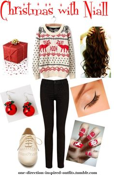 """Inspired - Christmas with Niall"" by one-direction-inspired-outfits ❤ liked on Polyvore"