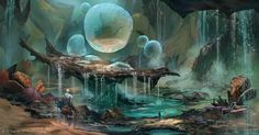 ArtStation - Dungeons and Dragons - Water Node, Ned Rogers